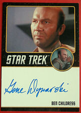 Star trek tos 50th gene Dynarski comme ben childress limited edition autographe carte