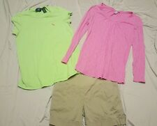 Maternity Lot 3 Piece Small S Spring Summer Tops Shorts pink green tan