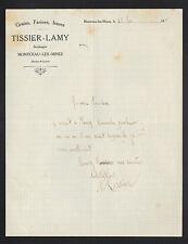 """MONTCEAU-les-MINES (71) GAINS FARINE/ BOULANGERIE """"TISSIER-LAMY Boulanger"""" 1919"""
