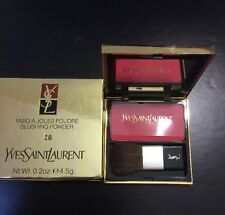 YVES SAINT LAURANT -  FARD A JOUES POUDRE - BLUSHING POWDER - #28 - NEW IN BOX