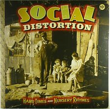 """2x 12"""" LP - Social Distortion - Hard Times And - A4419 - with Poster"""