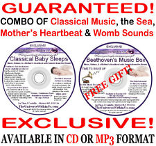 CLASSICAL BABY SLEEPS CD Mothers Heartbeat & Womb Sounds Music & Ocean CD or mp3