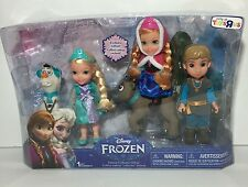 "NEW Disney Frozen 6"" Toddler Deluxe Collector Gift Set ELSA ANNA KRISTOFF Dolls"