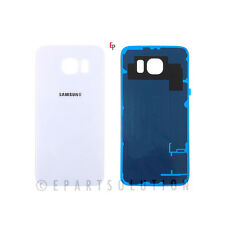 White Back Glass Cover Battery Door For Samsung Galaxy S6 G920 Replacement Part