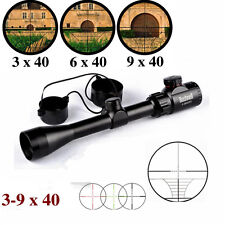 Bushnell Tactical 3-9x40EG Rifle Scopes Red/Green MilDot 20mm Rail Mount Hunting