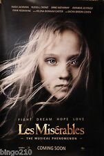 LES MISERABLES ORIGINAL 1 SHEET POSTER COSETTE  ANNE HATHAWAY HUGH JACKMAN