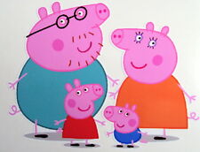 PEPPER PIG FAMILY VINYL STICKERS, For Car, Wall, Laptop, Ipad (13 x 15.5cms)