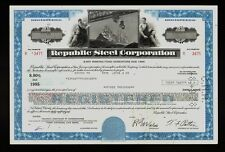 Republic Steel Corporation Youngstown Ohio 1978 Usd 3,000 old bond certificate