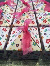 WHOLESALE JOBLOT 24 DAISY PATTERN GIFT BOX, PARTY,FAVOUR BOX,BIRTHDAY,JEWELLERY
