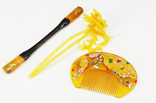 Japan KIMONO KANZASHI Hair Accessory Set BEKKO-like Free Shipping 727k10