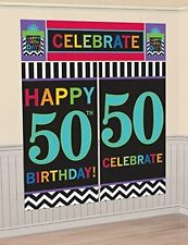 50th BIRTHDAY SCENE SETTER Wall Decoration Happy Decor Party Backdrop Banner 50