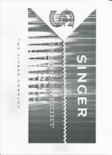 Singer Sewing Machine Manual (photocopy) Model 221K
