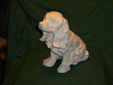 CERAMIC BISQUE- U-PAINT LARGE  COCKER SPANIEL DOG SITTING
