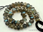 """Micro Faceted LABRADORITE BIG 6-7.5mm Rondelle Beads 8"""" Str (Select-A-Size) A+"""