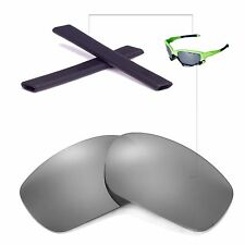 New Walleva Titanium Lenses And Black Earsocks For Oakley Jawbone