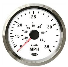 85mm white speedometer 0-35MPH for marine boat CPOB-WS-35 (SV-KY18102)