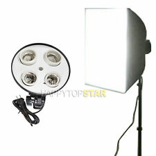 Video Photo Studio 50x70cm Light Lamp Bulbs Holder E26 E27 4 Socket LED Softbox