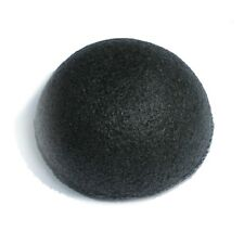 Black Konjac Sponge Puff With Added Bamboo Charcoal For Teen, Oily And Acne Skin