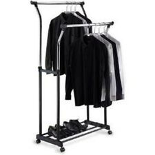 Organize It All Double Adjustable Garment Rack 2012 Chicago 1719 New