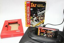 Taz in Escape From Mars (Sega Genesis, 1994) w/Box CLEANED TESTED WORKS GREAT
