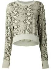 NWT~Pam & Gela~Cropped Printed Sweatshirt~Python~Green~P~$175 *SOLD OUT ONLINE
