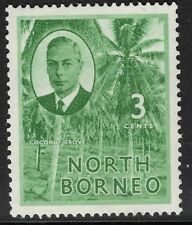 NORTH BORNEO SG358 1950 3c GREEN MTD MINT