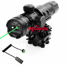 Green Laser Sight Daul Switches Universal Mount For Rifle Hunting Gun
