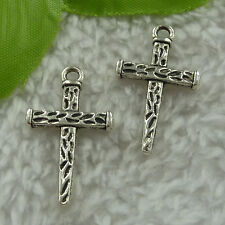 free ship 240 pieces tibet silver cross charms 29x17mm #3060