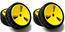 180019 1/8 Scale On Road Buggy RC Wheels Street Tread Tyres Yellow x 4