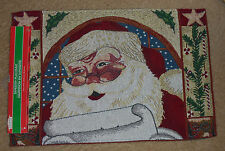 Santa Claus Placemat, 13 x 19in rectangular linen, Tapestry