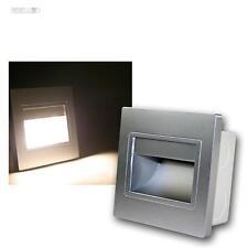 Wandeinbauleuchte Silber, COB-LED warmweiß Stufenlicht Wandeinbaustrahler Spot