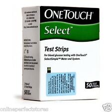 50 Test Strips of OneTouch Select Simple For Glucometer, Machine Diabetes Sugarr