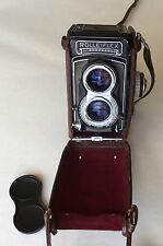 Vintage Rollei Rolleiflex TLR Camera with Carl Zeiss Lens / Shutter