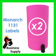 Pink Labels for 1131 Monarch-Paxar price, label gun,16 rolls ink roller included