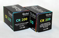 Rollei Chrome CR200 E-6 Slide 35mm 36exp Film Twin Pack for Cross Processing