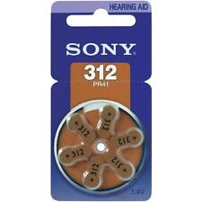 60 PILAS PARA AUDIFONOS SONY PR41 HEARING AID BATTERIES A312 DA312 ZA312 MARRÓN