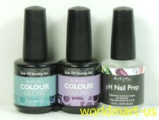 Artistic Nail Design Gloss Soak Off Gel Base Coat & Top Coat & pH Nail Prep
