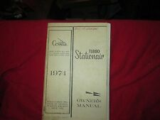 Cessna turbo stationair owners manual 1974 OEM airplane aviation booklet