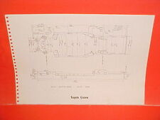1969 TRIUMPH SPITFIRE MARK IV CONVERTIBLE TOYOTA CROWN FRAME DIMENSION CHART