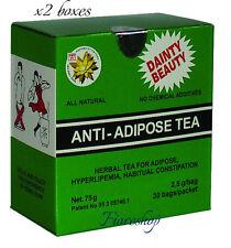 2 X anti-adiposo té de pérdida de peso efecto Desintoxicante efecto laxante Té Verde