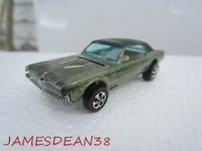 Hot Wheels 1967 REDLINE CUSTOM COUGAR OLIVE WHITE INTERIOR