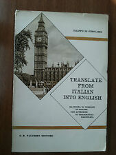 TRANSLATE FROM ITALIAN INTO ENGLISH - F. DI GIROLAMO - PALUMBO EDITORE 1969