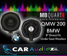 "MB Quart QMW200 BMW 20cm 8"" Custom Fit Bass Car Speakers for BMW 1 3 5 Series X1"