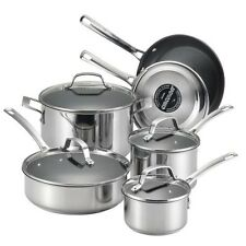 Stainless Steel Cookware Set 10-Piece Nonstick Pots Pans Dishwasher Oven Safe