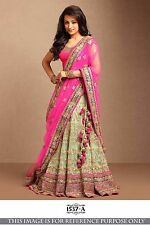 Indian Bollywood Lehenga Party Wear Lengha Choli Pakistani Pink Lehenga Choli