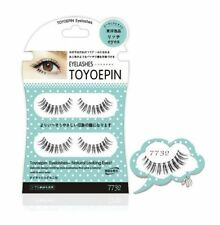 Japanese Dolly Wink Toyepin False Eyelashes Natural Long Handmade 2 Pairs 7732