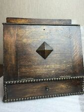arts & crafts vintage wooden tobacco pipe rack smoking cabinet humidor victorian