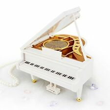Mechanical Classical Ballerina Girl Dancing on the Piano Music Box, Great Gift