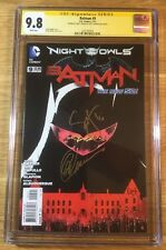 Batman 9, New 52, CGC 9.8 2X SS, signed by Snyder and Capullo, graded NM/MT