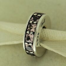 Authentic Pandora 791724NBP Eternity Blush Pink Spacer Sterling Bead Charm